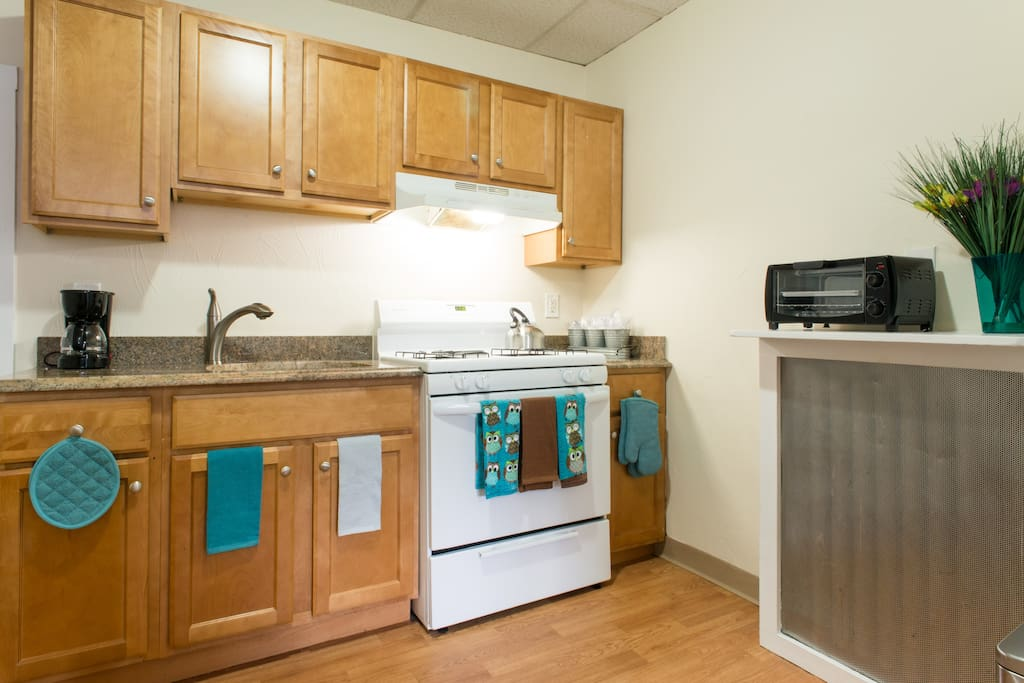 Plenty of room in the kitchen area should you want to cook yourself.