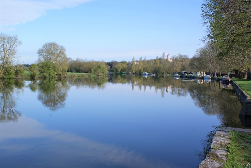 The beautiful River Charente in Spring time