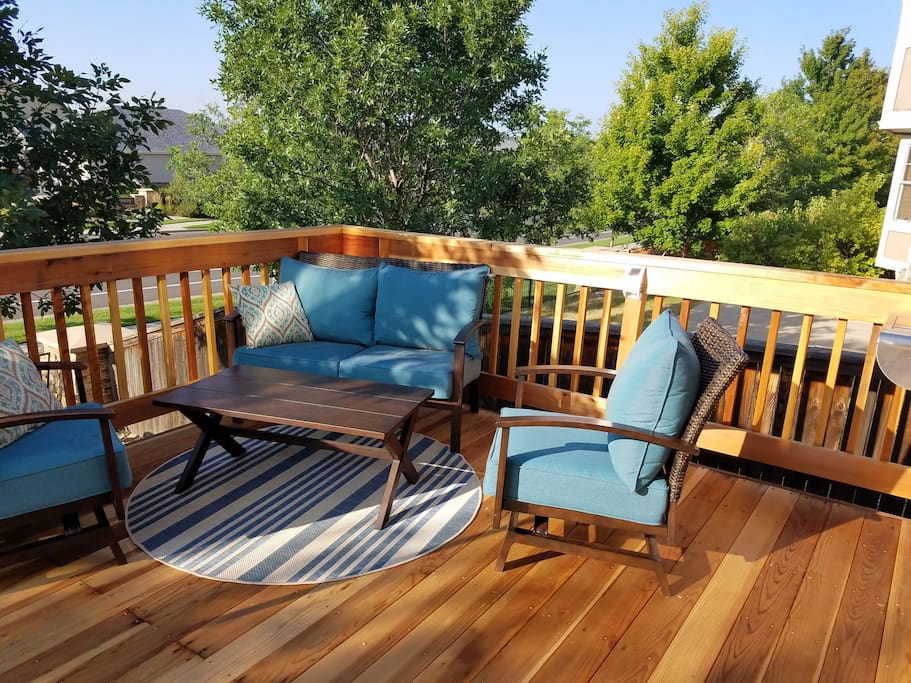 Soak up the Colorado sunshine or simply relax on our spacious deck.