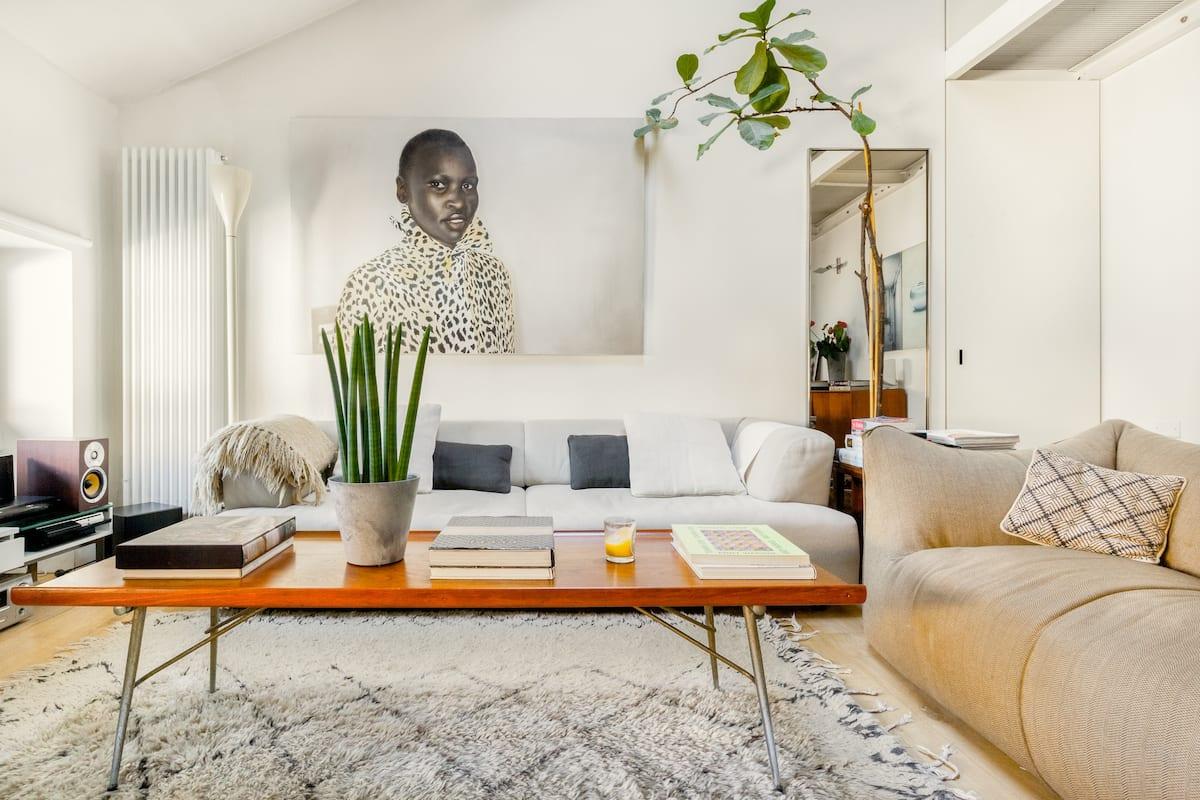 Elegant, Contemporary Loft with Woodstove