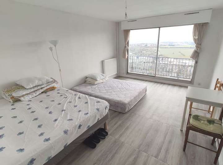 Large room for travelers in Lyon - NO SMOKING