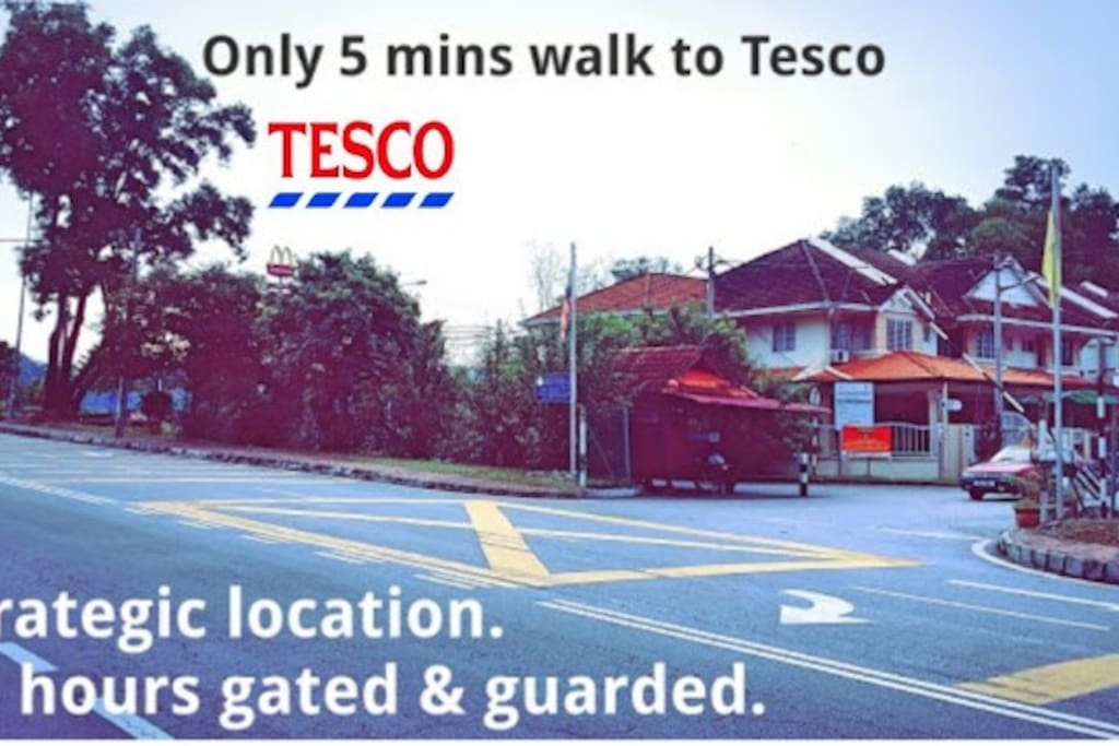 24 hours gated and guarded with CCTV. And 5 min walk to Tesco S2 and McDonald's