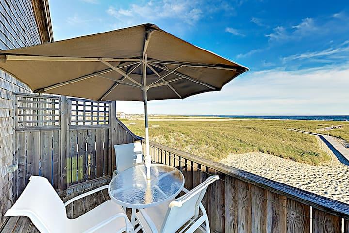 Beachfront Getaway w/ Epic Views - Steps to Sand