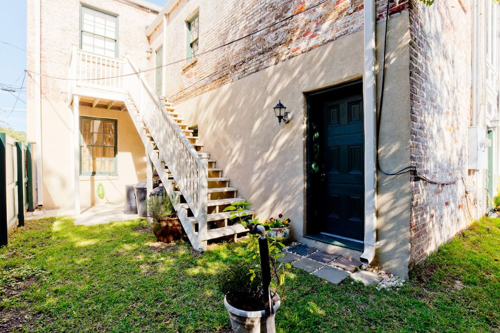 Historic apartment with patio and separate entrance