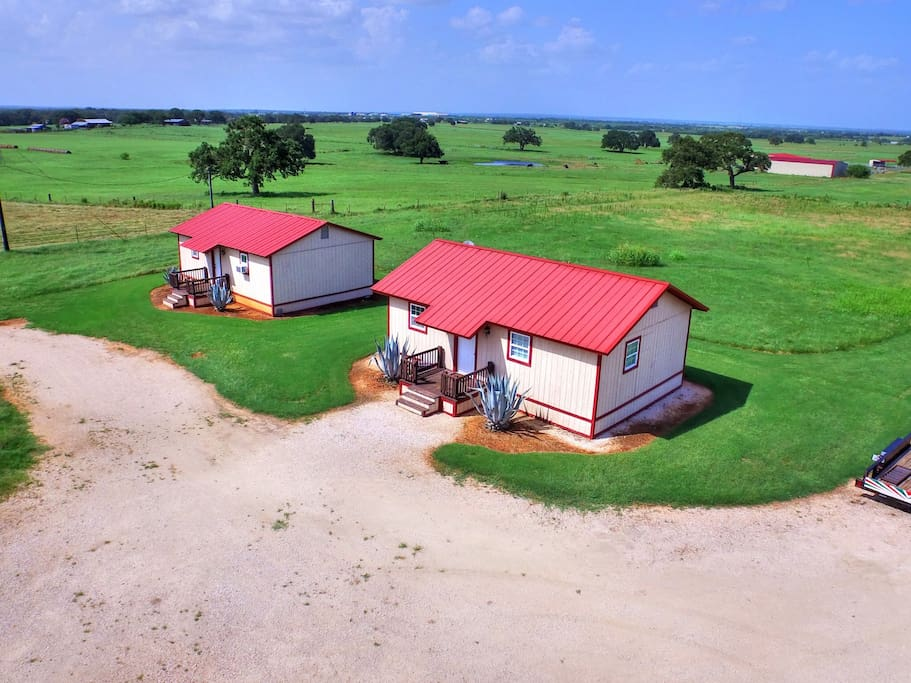 """""""Tumble Weed"""" and """"Horse Shoe"""" Cabin side by side. Each cabin sleeps 2. Separate reservations required."""