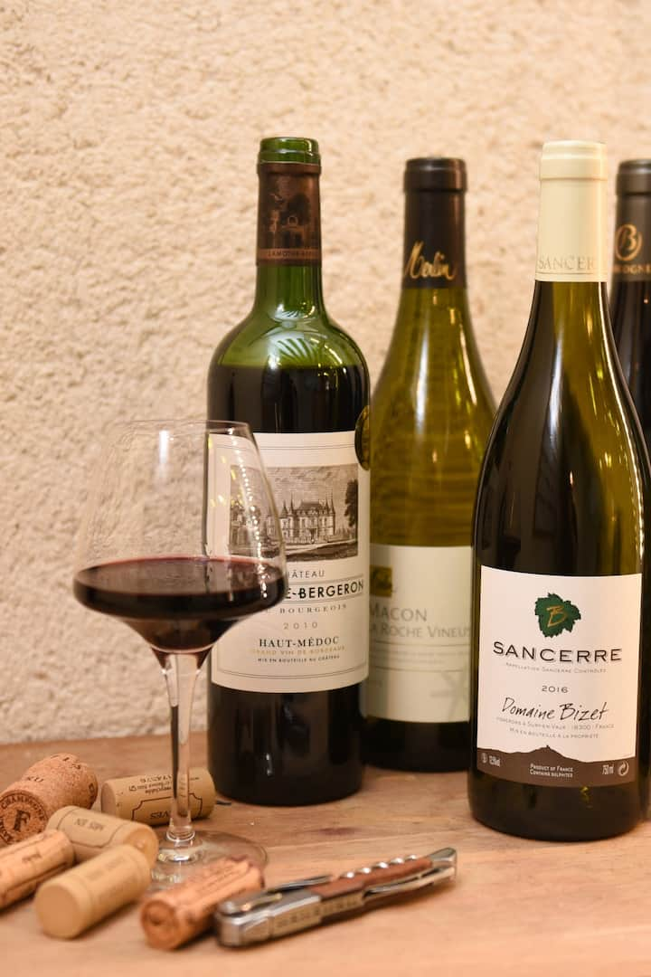 Taste excellent French wines