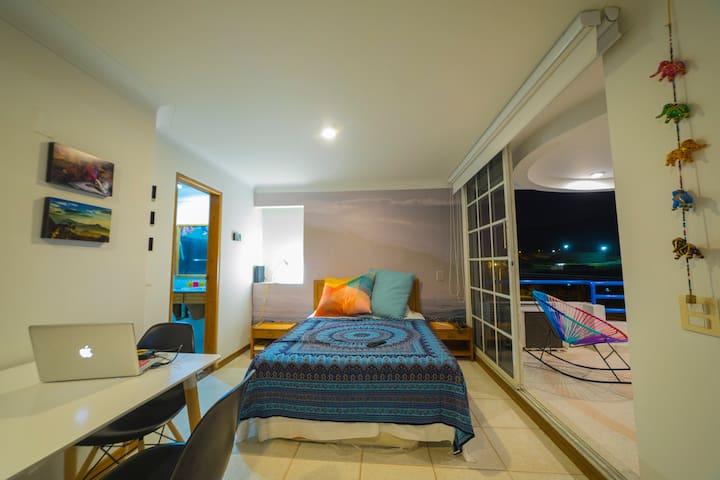 Spectacular loft studio near Santa Marta