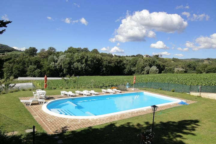 Pretty Farmhouse with Swimming Pool, Garden, Terrace, BBQ