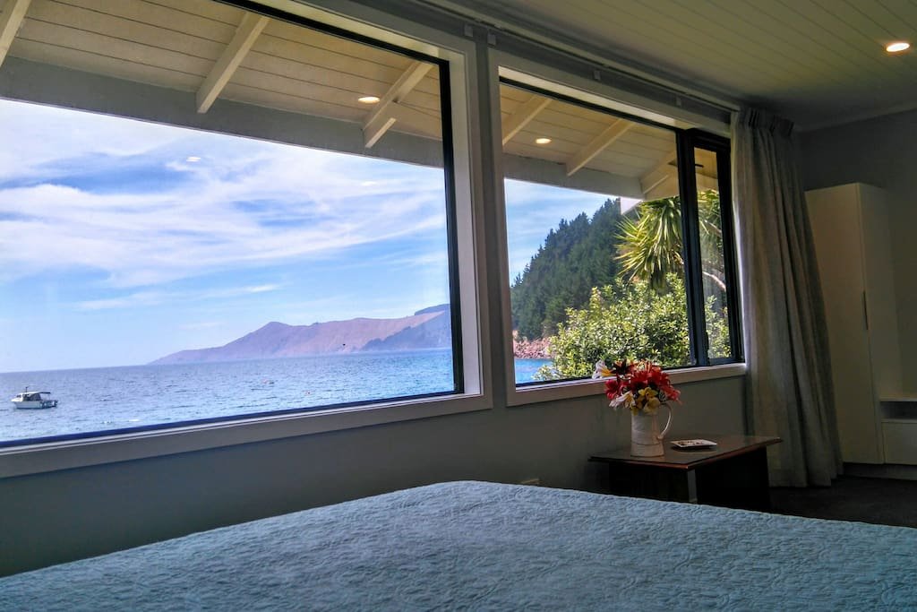 View from bed in the Luxury Villa