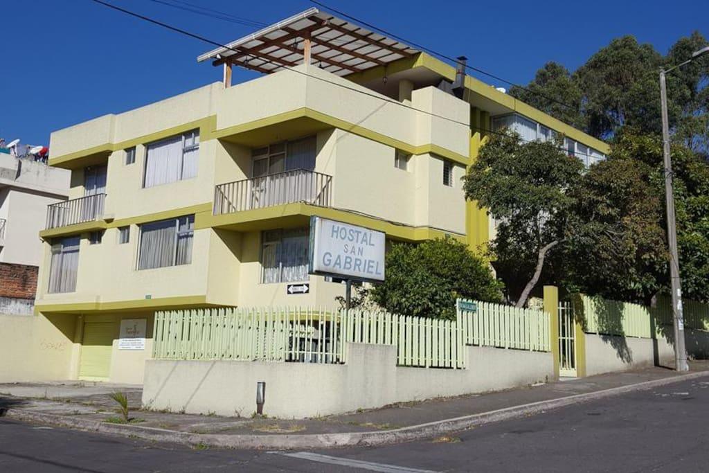Outside of building, Hostal San Gabriel