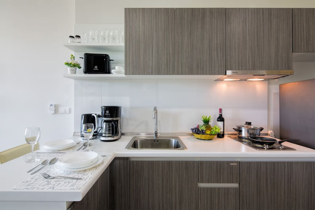 Fully equipped kitchen with all electric devices you might need!
