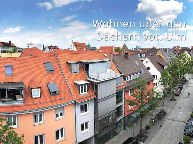 City-Apartment, living above the roofs of Ulm