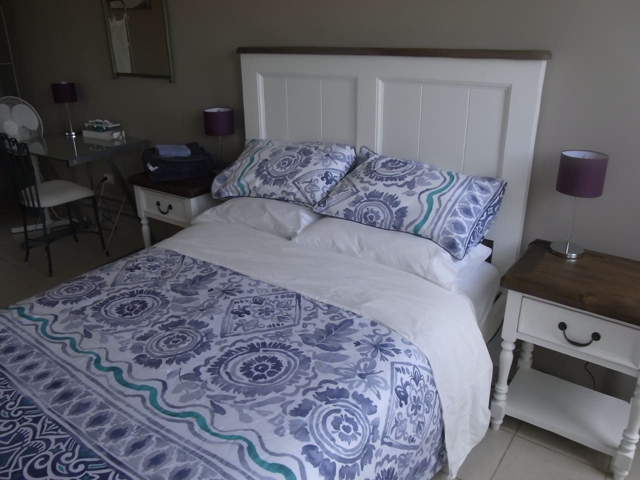 Bedroom 1 is large and airy. New double bed. Extra portable beds and cot available.