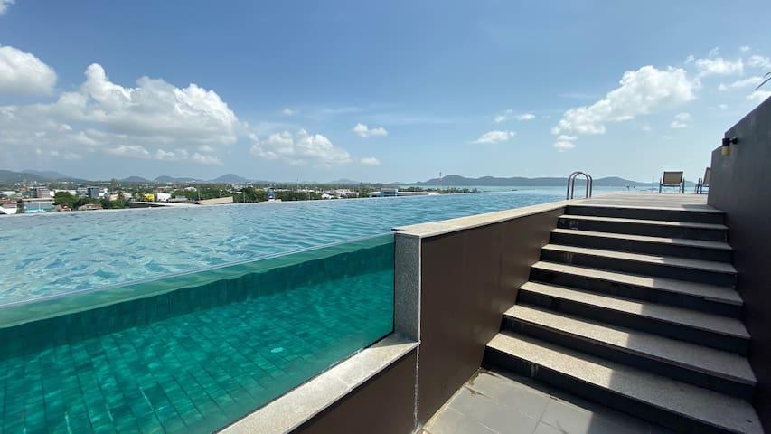 ❤️Chalex Condo, luxury one bedroom rooftop pool 😎