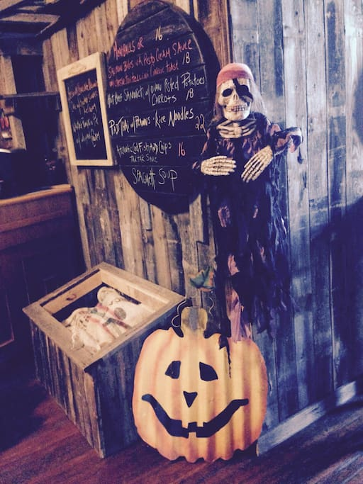 It gets spooky during Halloween at Stella's!