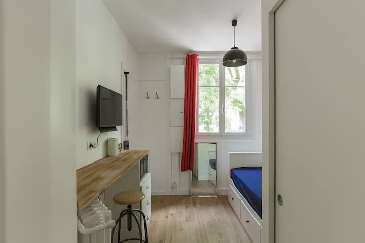 Independent room with private bathroom and toilet