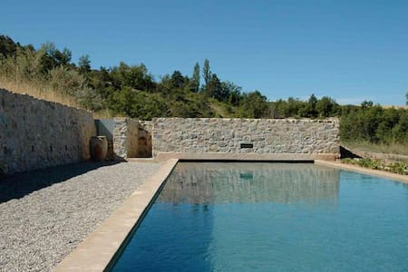 Grande maison avec piscine Alpes de Haute-Provence - Sigoyer - Σπίτι