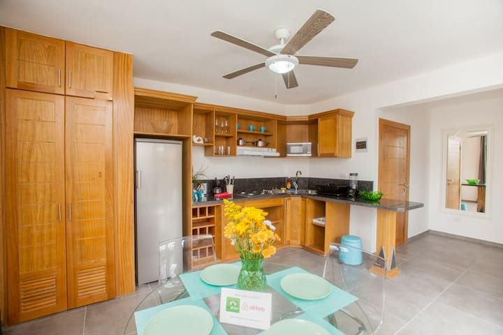 Beautiful,  and full equipped kitchen with all you need