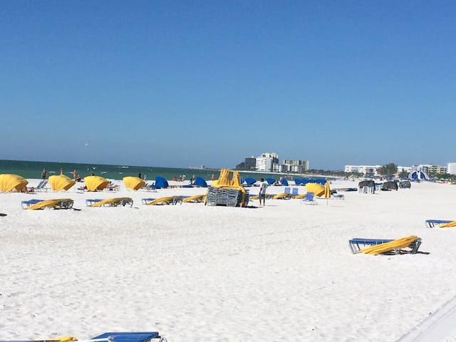 Steps to beach, restaurants, bars and shopping - Saint Pete Beach - Townhouse