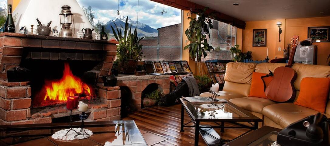 Hotel with kitchen and fireplace/craft beer