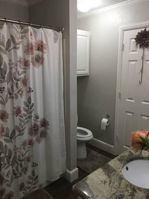 Bathroom, tub/shower.
