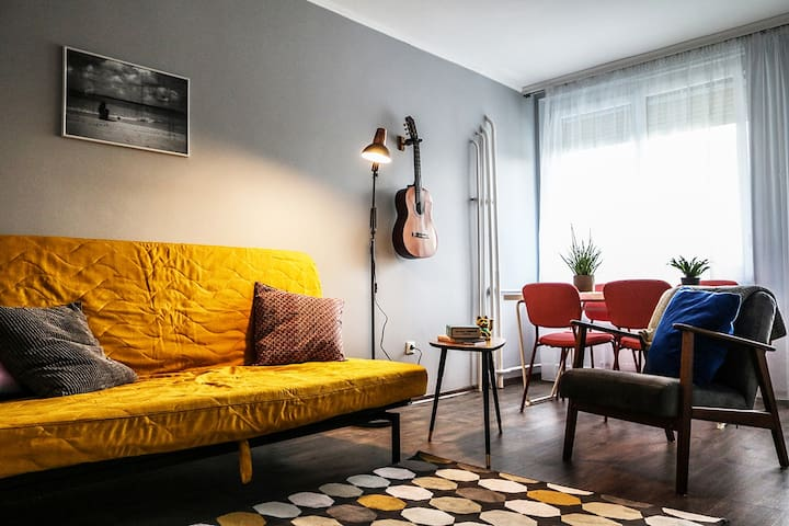 Homely, well-connected, bright flat in Buda  :)