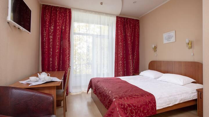 Просторный номер с двуспальной кроватью