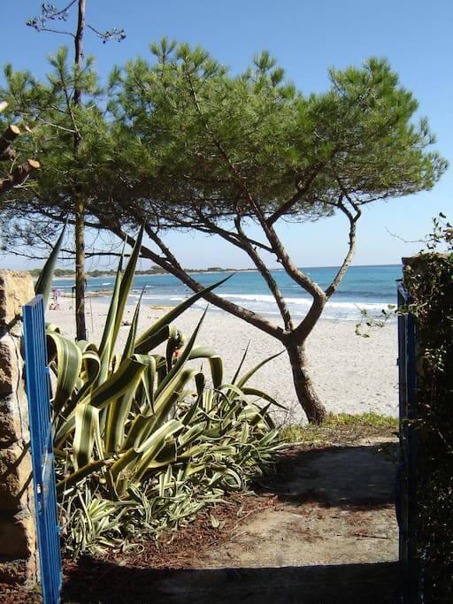 Accesso privato alla spiaggia