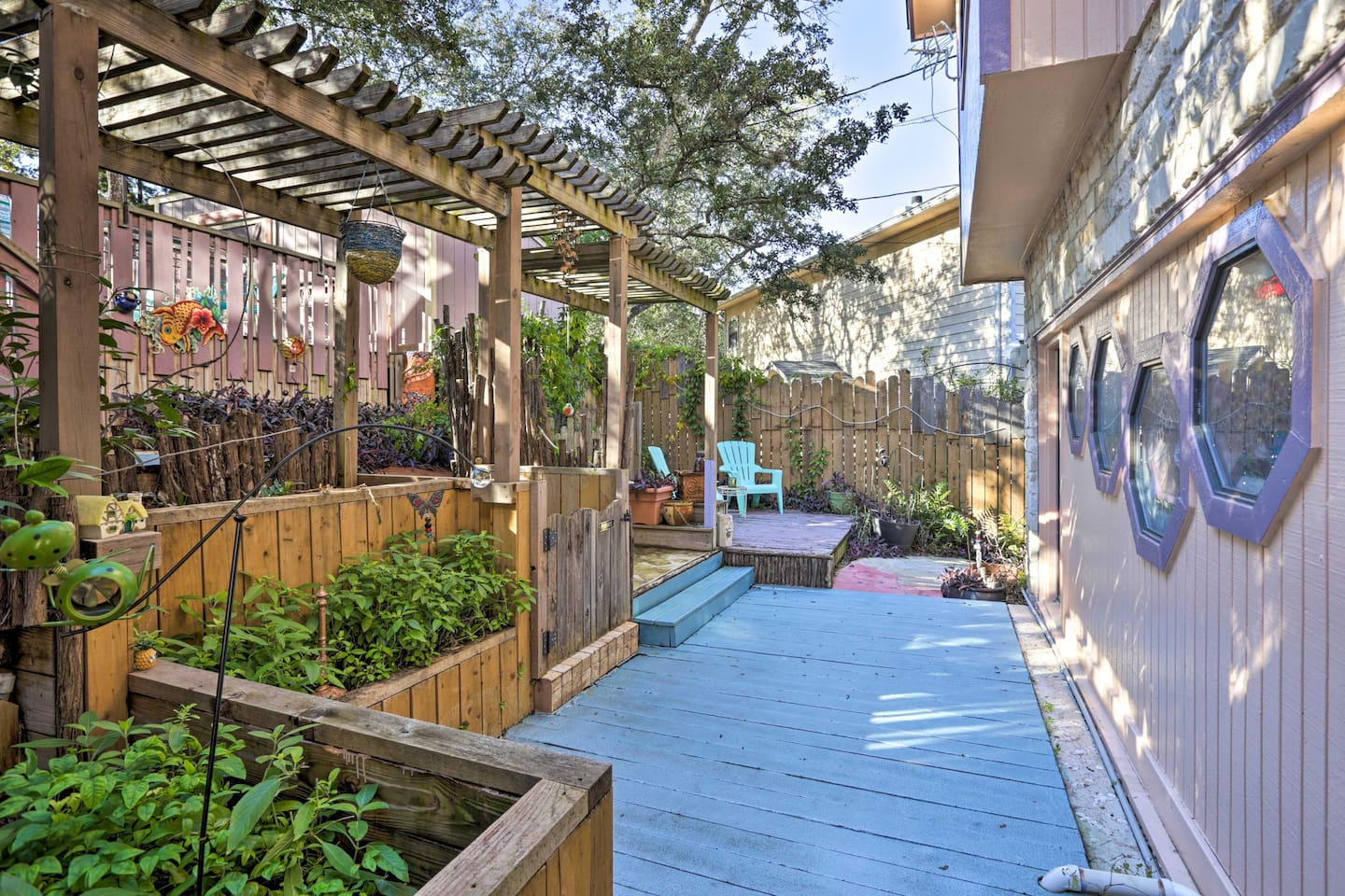 The 1,200-square-foot unit includes 2 bedrooms, 2 bathrooms, & a lovely patio.