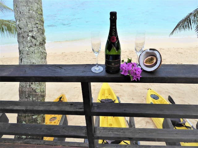 Vaka on the Beach  - as beach front as you can get