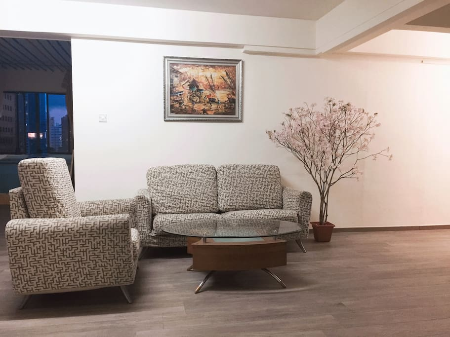 Spacious and clean living room