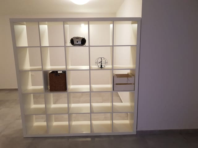 A space for storing objects and clothes