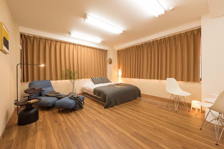 Design hotel near Ueno/Asakusa with 3 bedrooms