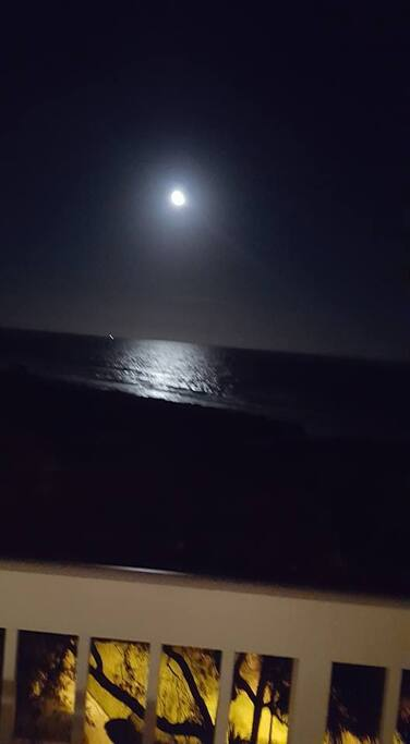 MOONLIGHT FROM OUR ATLANTIC 5th FLOOR OCEANFRONT CONDO