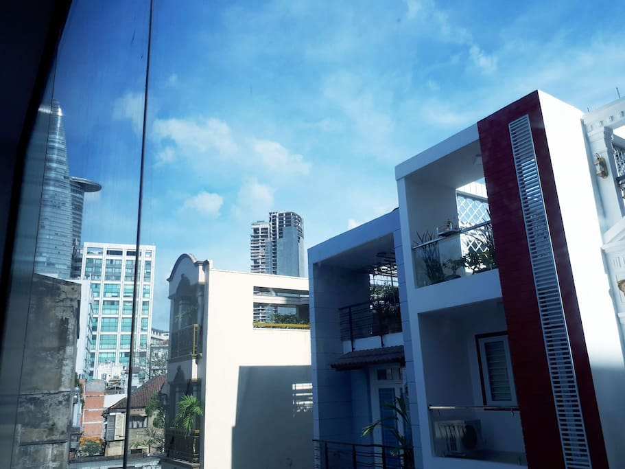 View to Bitexco and sky view from your room