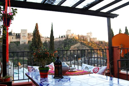 Balcony of Maria la Chola. A/C. Views to Alhambra - Granada - Loft