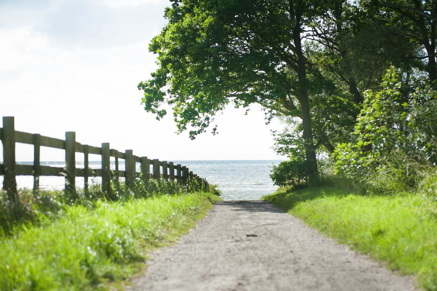 The path from your place to the sea and the Strandstråket - a walking path that runs along the sea through Lomma.
