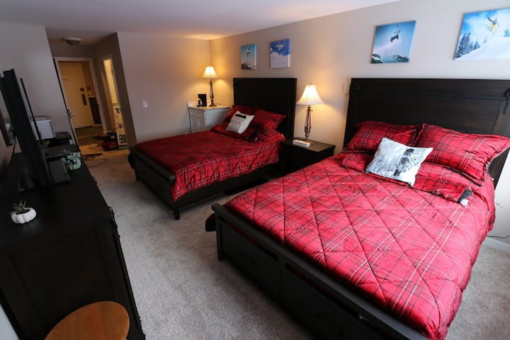 Studio with two queen Beds Newly renovated