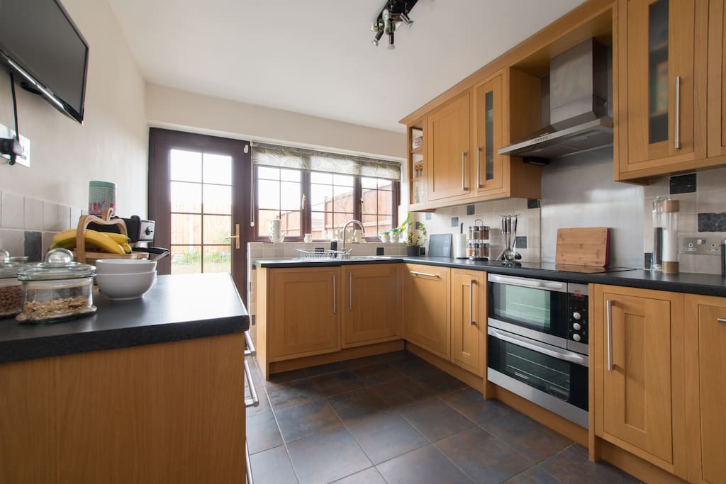 Kitchen - Feel free to whip yourself up a feast in our fully equipped shared kitchen