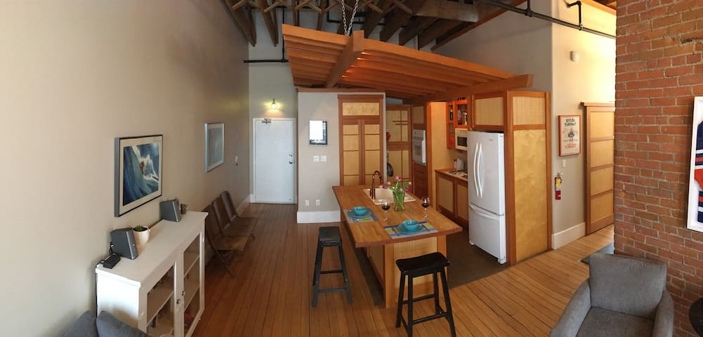 Available Easter weekend! Old Firehall Tower Apt.
