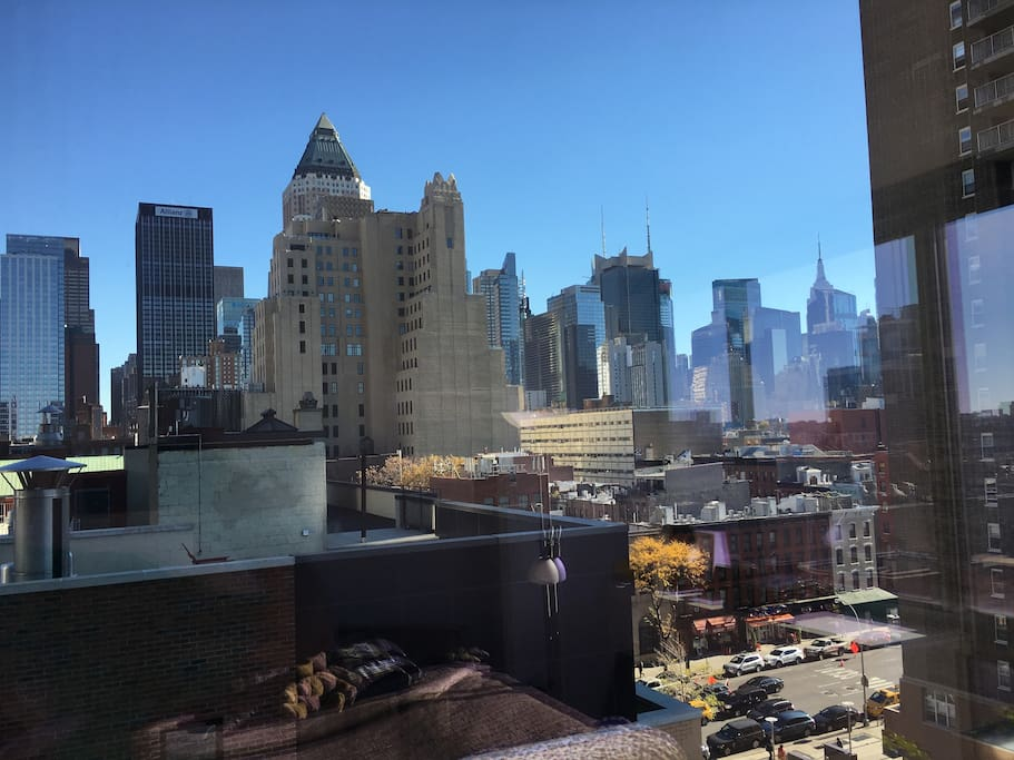 A view from the apartment window