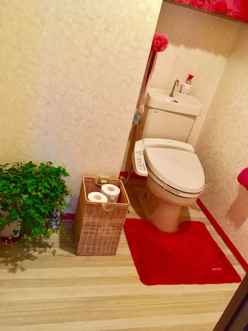 Bathroom:specious and clean Enjoy the Japanese style bathroom with cool features