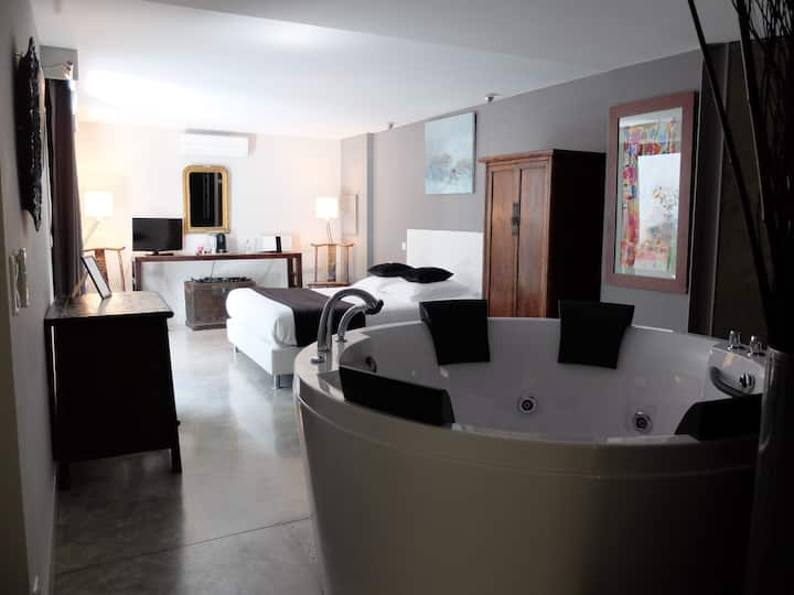Chambre deluxe avec jacuzzi privatif en Avignon