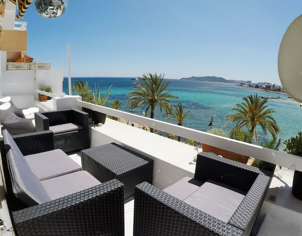 Seaview apartment on the beach - Eivissa - Lägenhet
