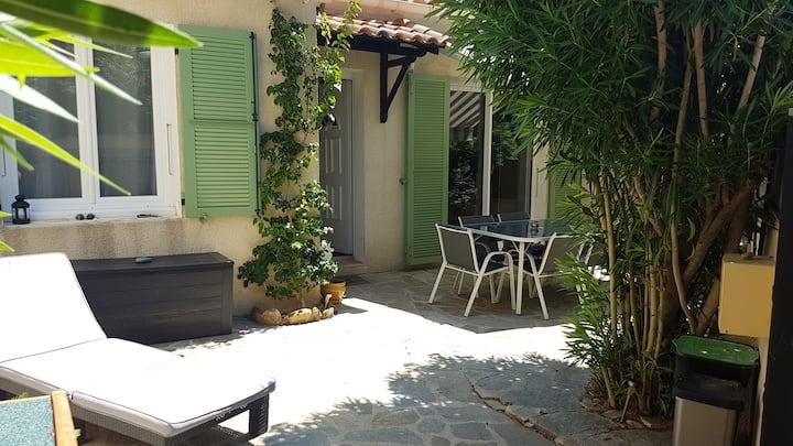 Mazet T2 rez de jardin Résidence avec piscine