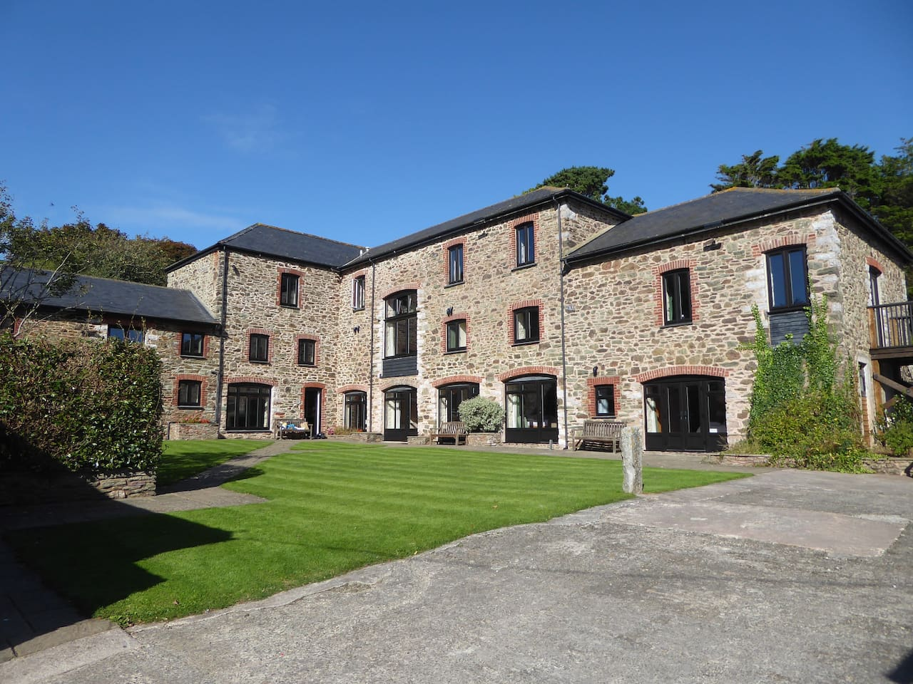 Part of the Hope Barton Barns complex centred around a courtyard