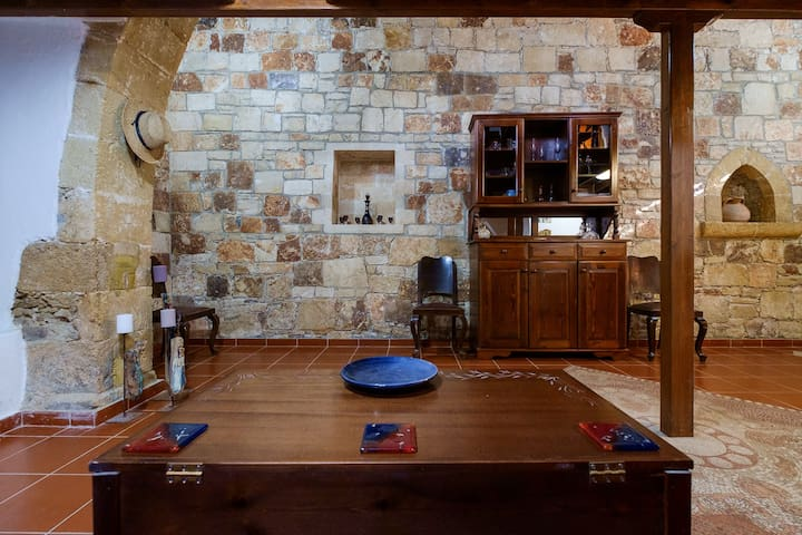 Everything is carefully picked and placed in this house. All items  resemble the traditional cretan characteristics of the house
