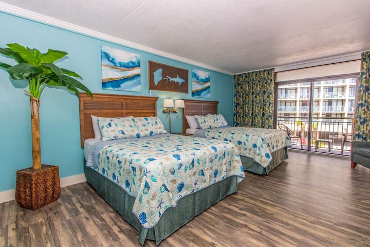 Beautifully Updated~Ocean View Double Queen Suite~Grande Cayman Resort 313