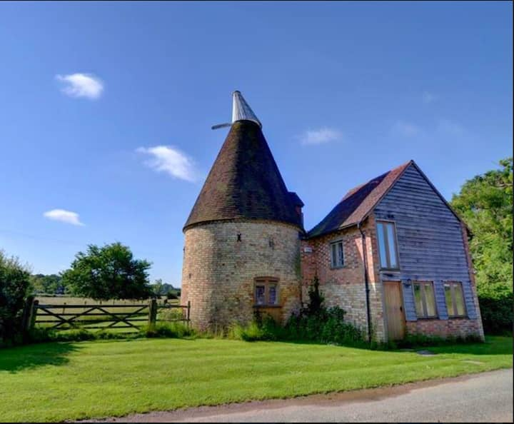 What a wonderful find - a traditional Kentish Oast