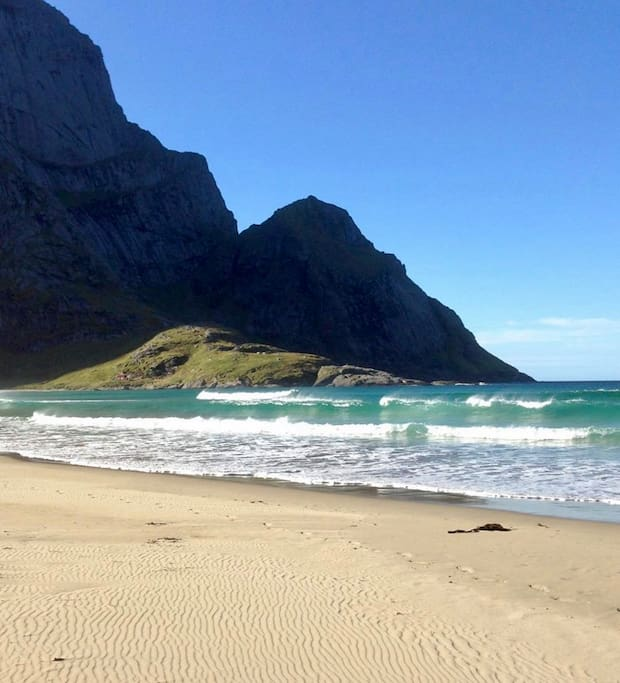 The wild and specular Bunes Beach! The most visited beach in this part of Lofoten. Easy to reach from our house. I give you all info when you arrive :)